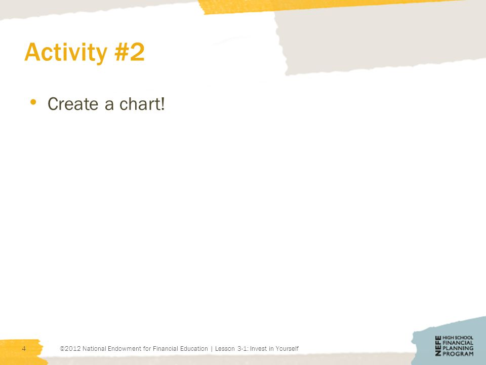 Activity #2 Create a chart.