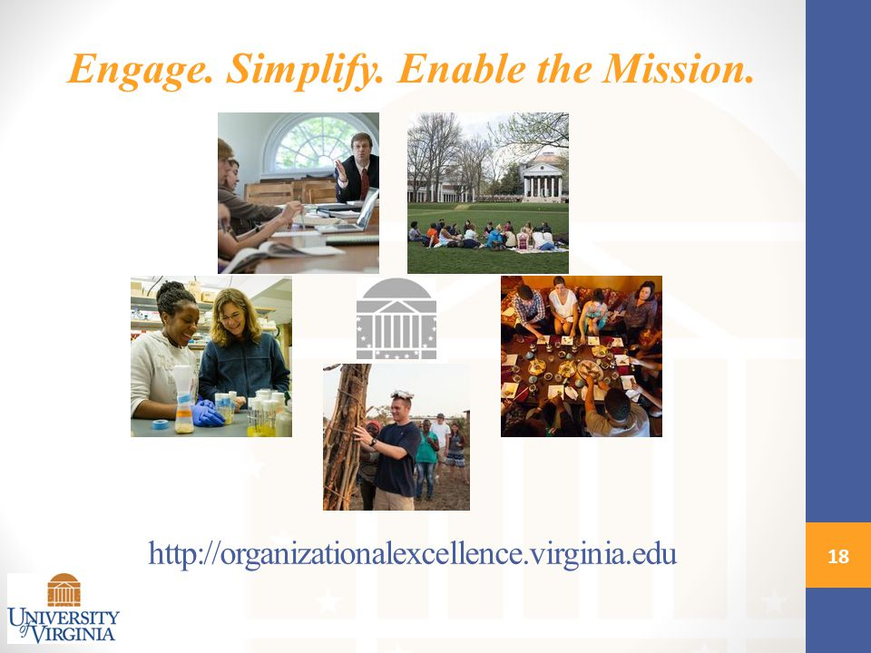 18 Engage. Simplify. Enable the Mission.