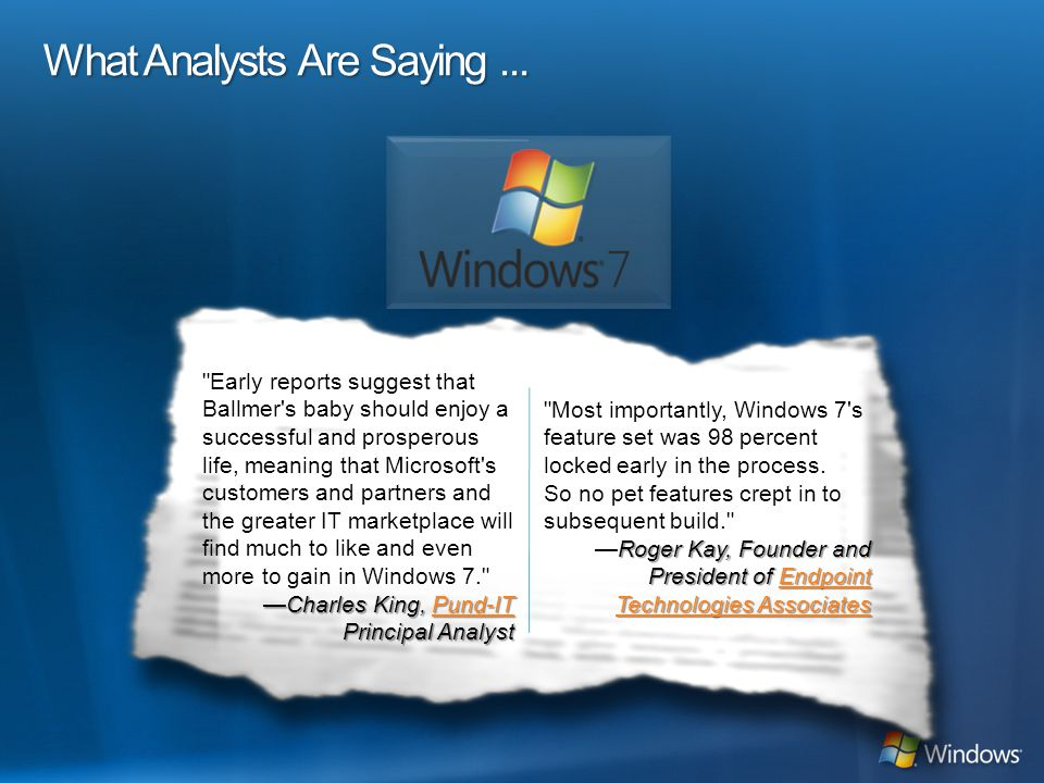 What Analysts Are Saying...
