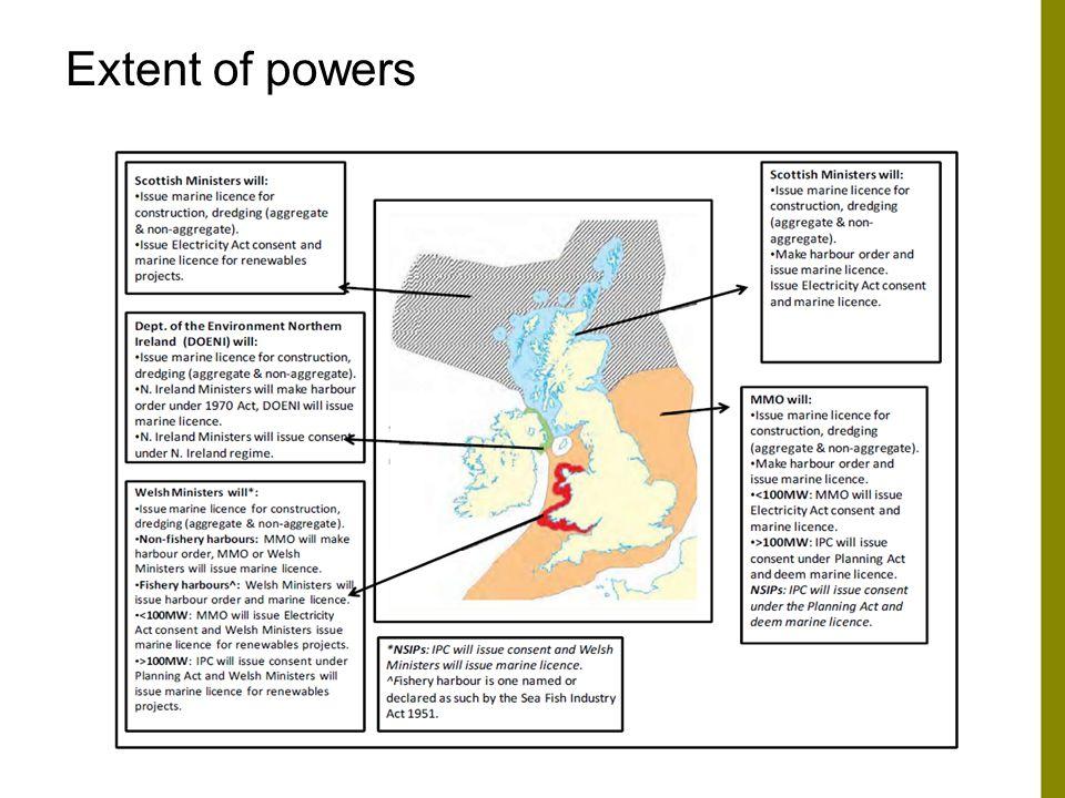 Regulatory regime Environmental Impact Assessment –Marine Works (EIA) Regulations 2007 (as amended).