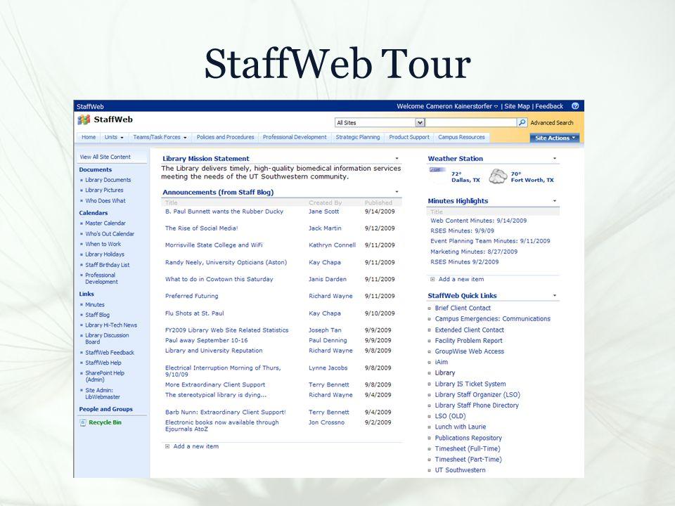 StaffWeb Tour