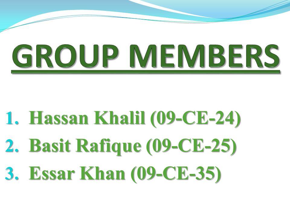 1. Hassan Khalil (09-CE-24) 2. Basit Rafique (09-CE-25) 3. Essar Khan (09-CE-35)