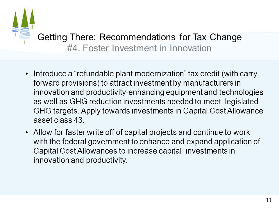 11 Getting There: Recommendations for Tax Change #4.