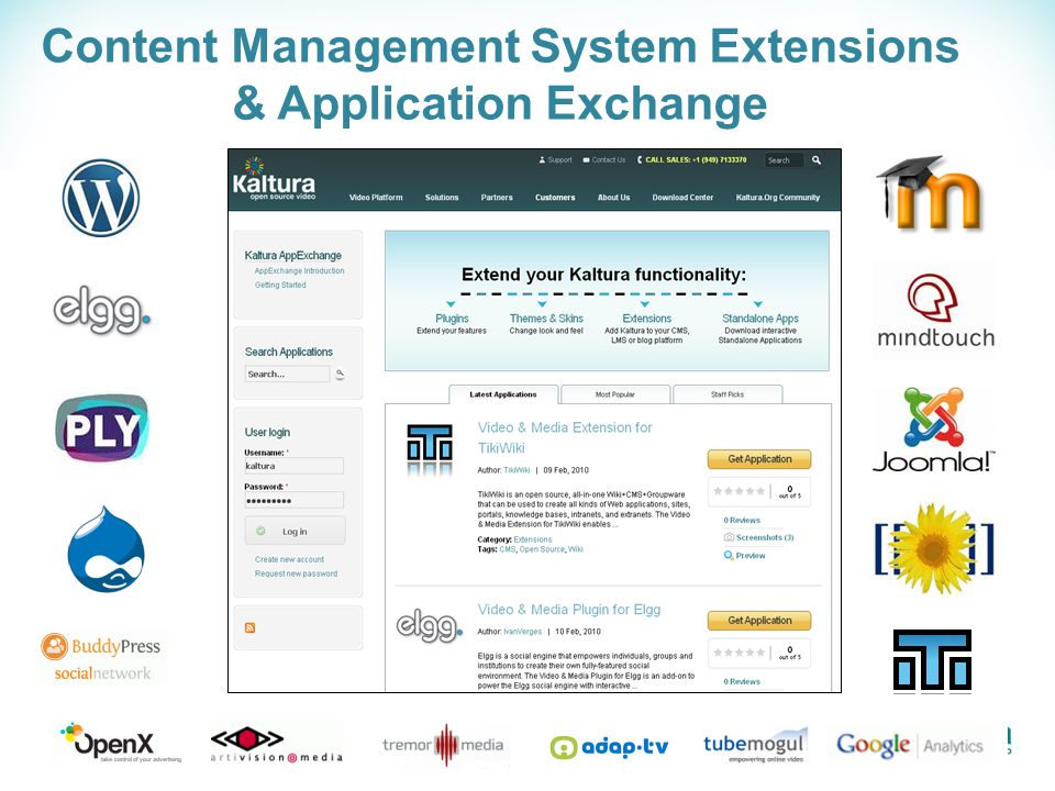 Content Management System Extensions & Application Exchange