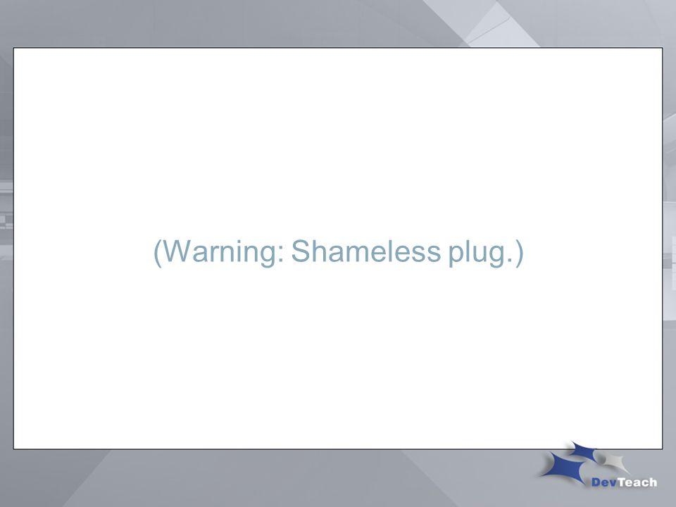 (Warning: Shameless plug.)