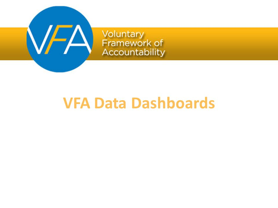 VFA Data Dashboards