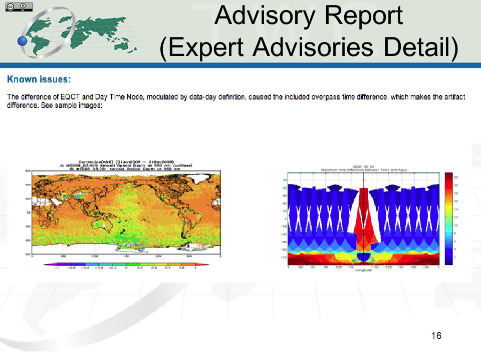 Advisory Report (Expert Advisories Detail) 16