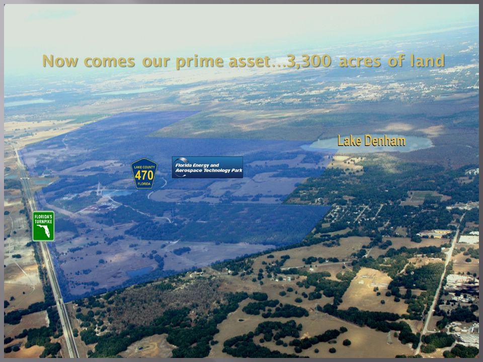 12 Now comes our prime asset…3,300 acres of land