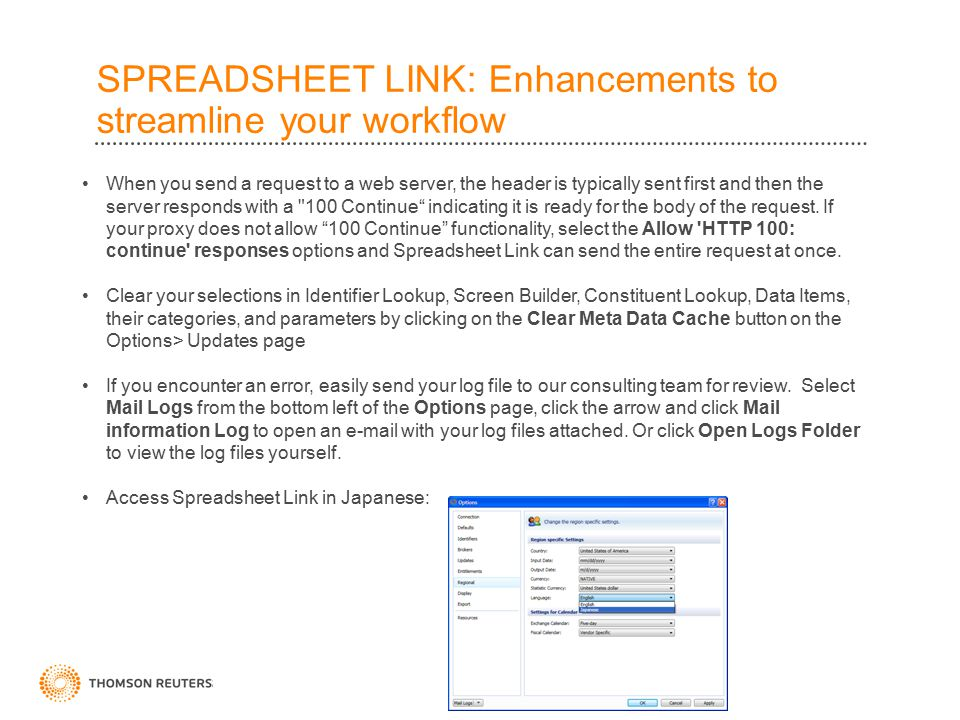 SPREADSHEET LINK: Enhancements to streamline your workflow When you send a request to a web server, the header is typically sent first and then the server responds with a 100 Continue indicating it is ready for the body of the request.