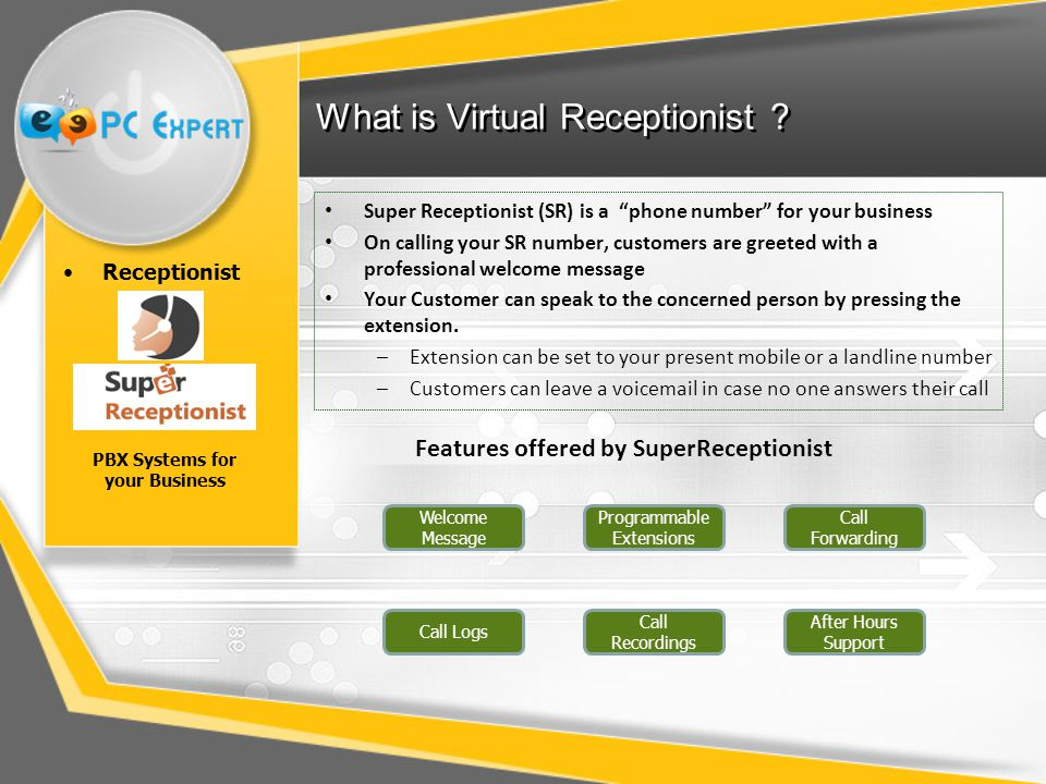 What is Virtual Receptionist .