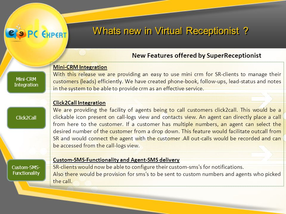 Whats new in Virtual Receptionist .