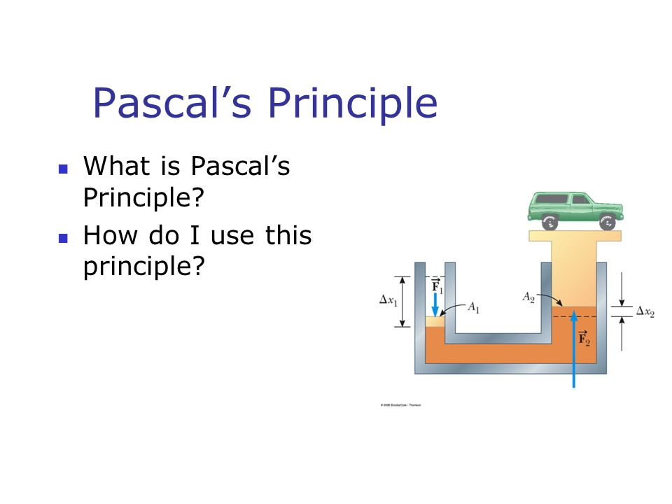 Pascal's Principle What is Pascal's Principle? How do I use this principle?