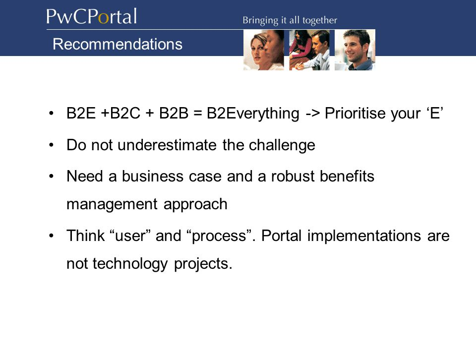 What does the PwC Portal look like? Log on to: http://portal.pwcinternal.com