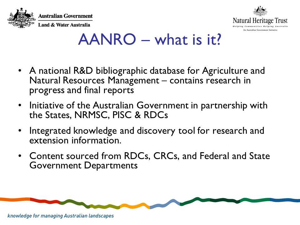 AANRO – what is it.