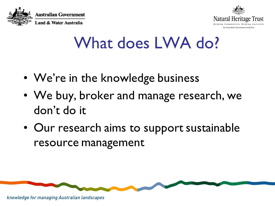 What does LWA do.