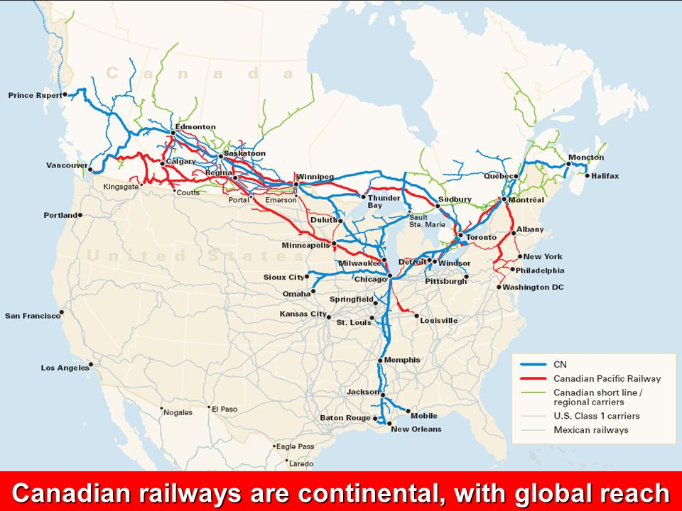 15 MEETING THE CHALLENGE Fiscal Issues Railways paid $698 million in taxes in 2004, up 49% since 1995Railways paid $698 million in taxes in 2004, up 49% since 1995 Canadian railways pay a much higher percentage of revenue as tax vs U.S.Canadian railways pay a much higher percentage of revenue as tax vs U.S.