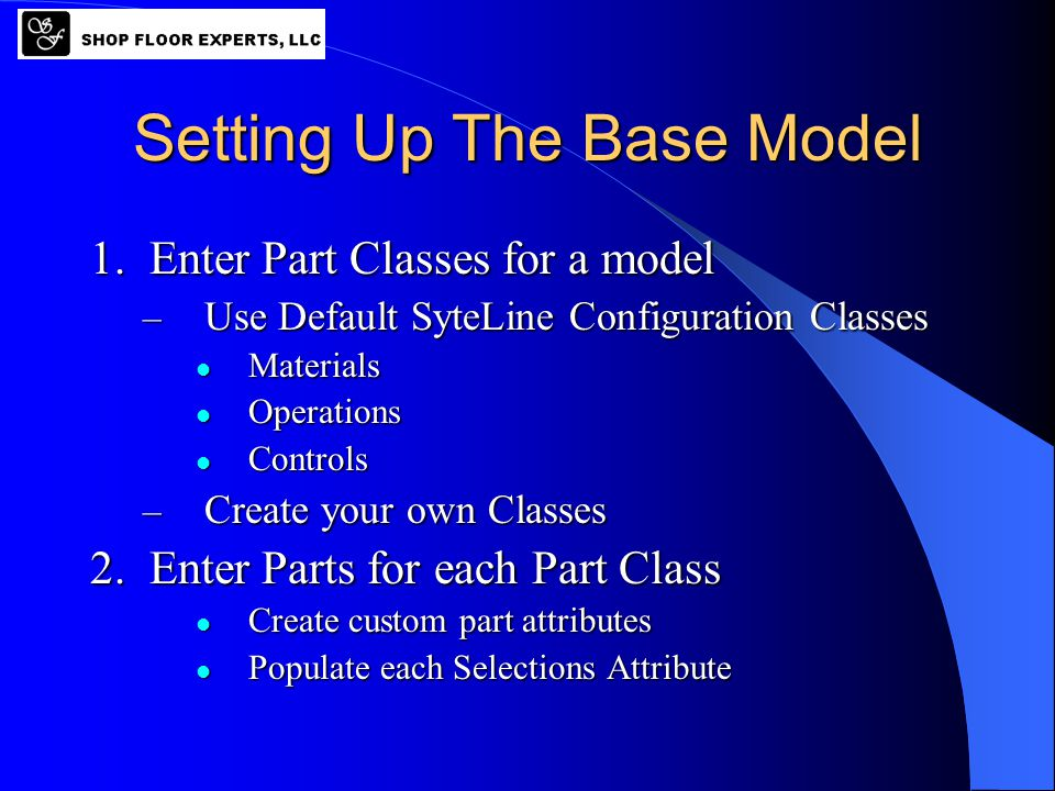 Models Product Classes 1.