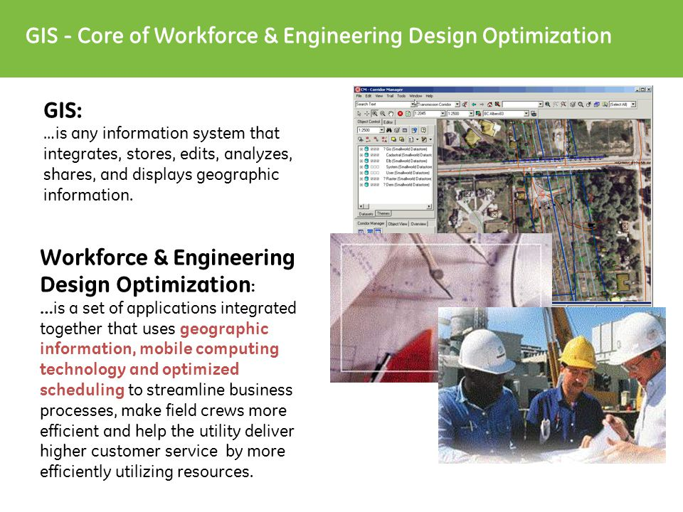 T&D and Comms Infrastructure Mgt.Workforce Automation Mobile Computing Workforce & Engr.