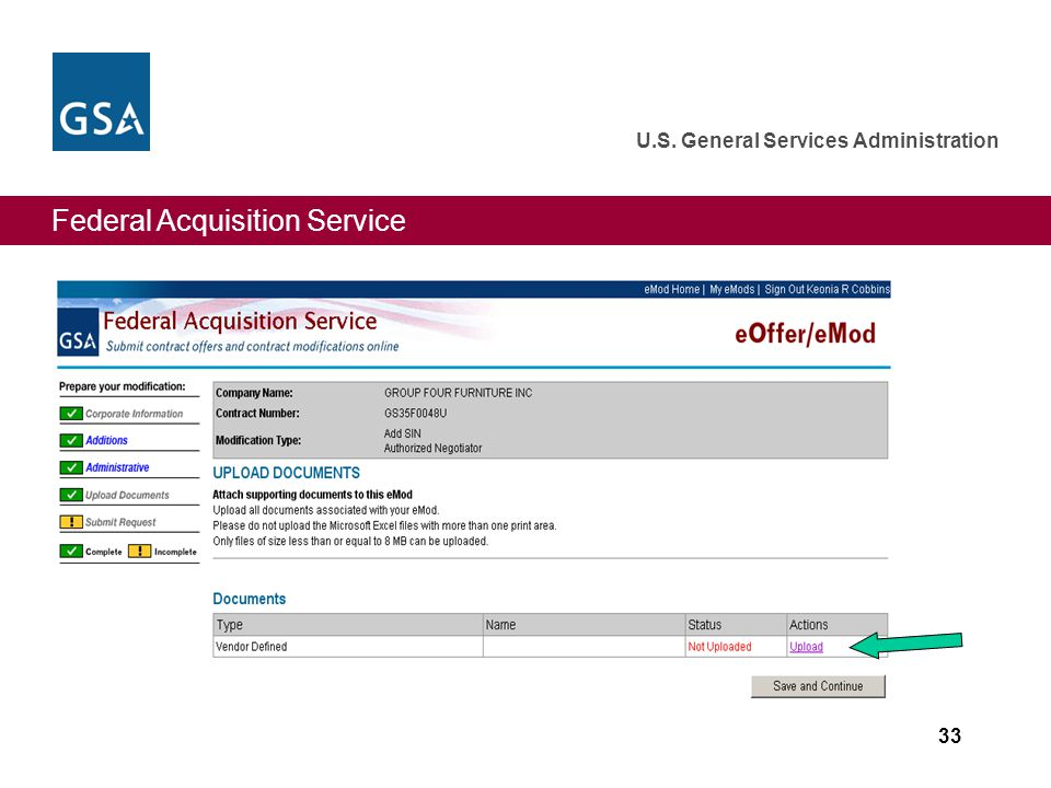 Federal Acquisition Service U.S. General Services Administration 33