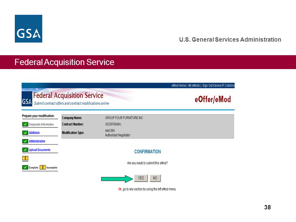 Federal Acquisition Service U.S. General Services Administration 38