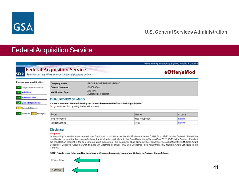 Federal Acquisition Service U.S. General Services Administration 41