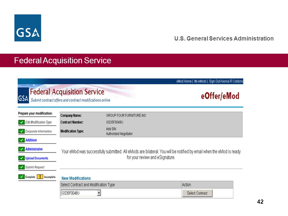 Federal Acquisition Service U.S. General Services Administration 42