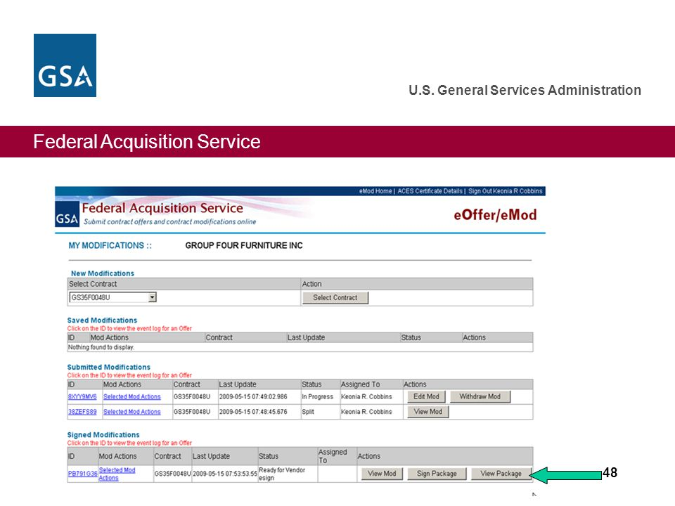 Federal Acquisition Service U.S. General Services Administration 48