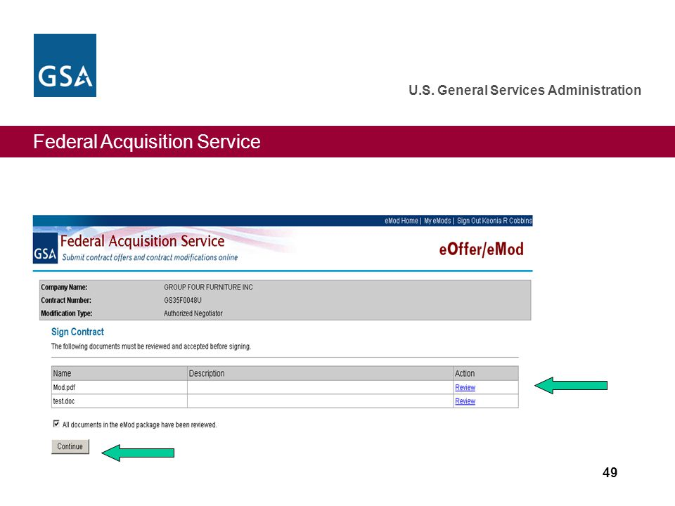 Federal Acquisition Service U.S. General Services Administration 49