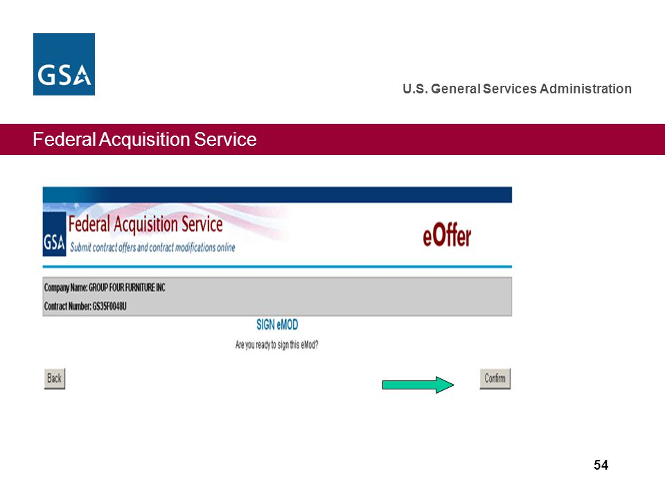 Federal Acquisition Service U.S. General Services Administration 54
