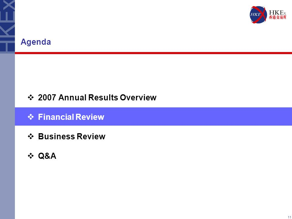 11 Agenda  2007 Annual Results Overview  Financial Review  Business Review  Q&A