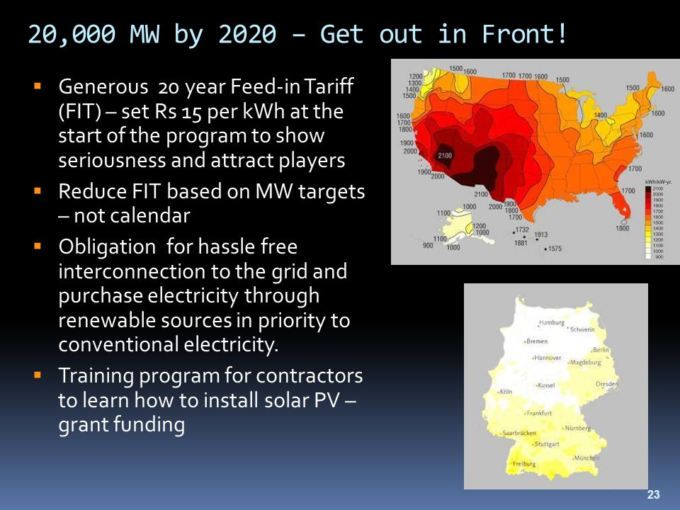 20,000 MW by 2020 – Get out in Front.