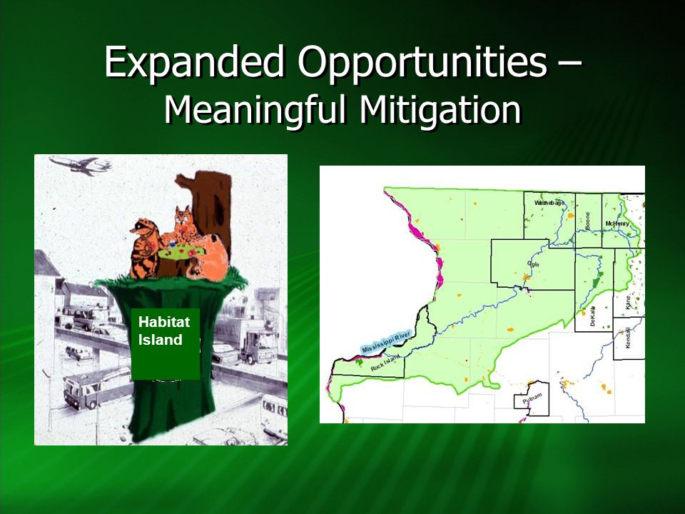 Expanded Opportunities – Meaningful Mitigation Habitat Island