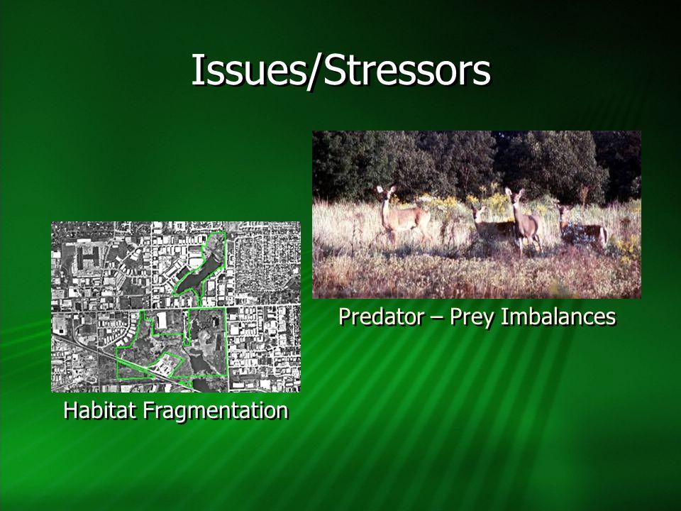 Habitat Fragmentation Predator – Prey Imbalances Issues/Stressors