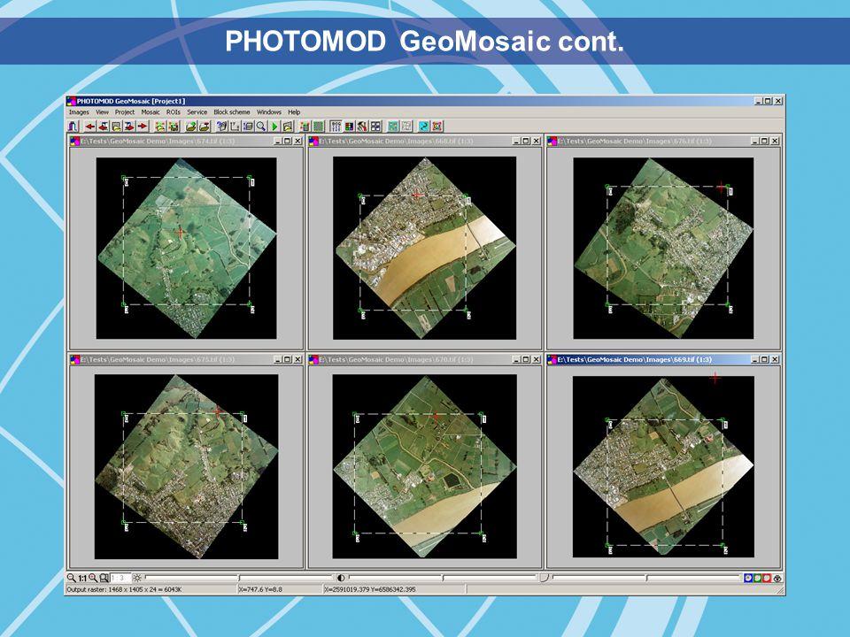 PHOTOMOD GeoMosaic cont.