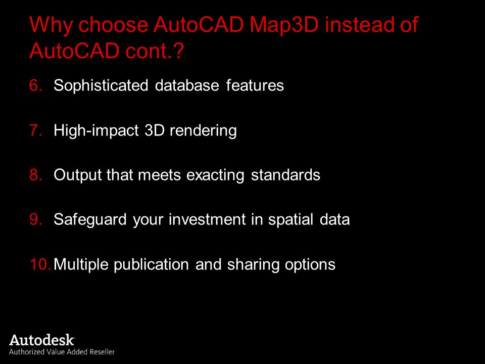 AutoCAD Map 3D 2008 – What's new.