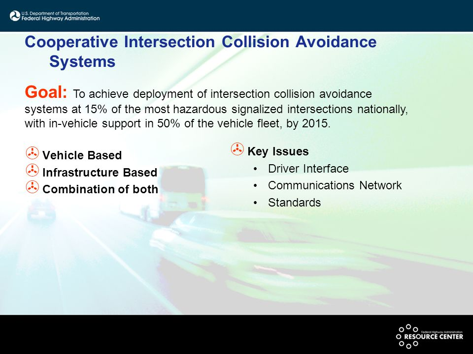 Cooperative Intersection Collision Avoidance Systems > Vehicle Based > Infrastructure Based > Combination of both > Key Issues Driver Interface Commun