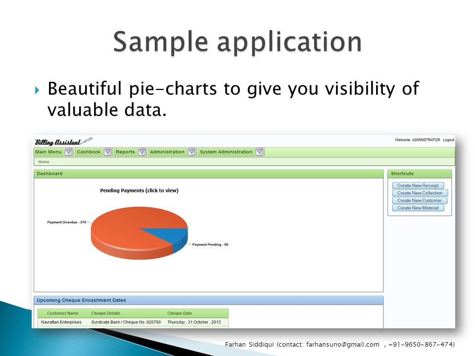  Beautiful pie-charts to give you visibility of valuable data.