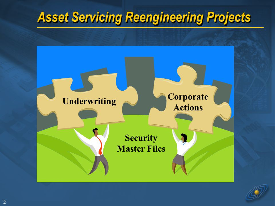 2 Asset Servicing Reengineering Projects Underwriting Corporate Actions Security Master Files