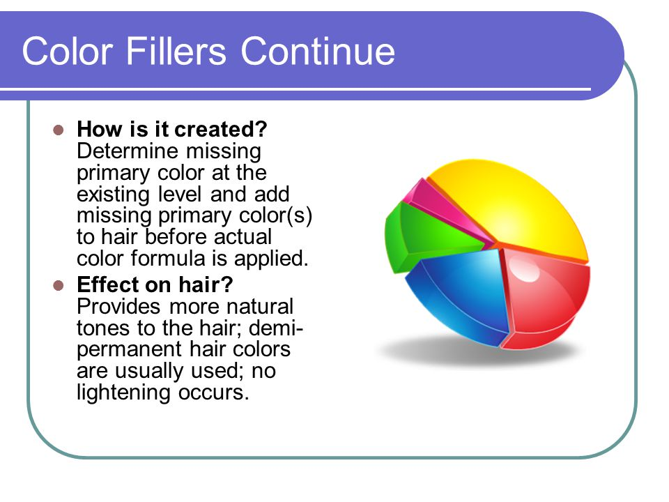 Color Fillers Continue How is it created.
