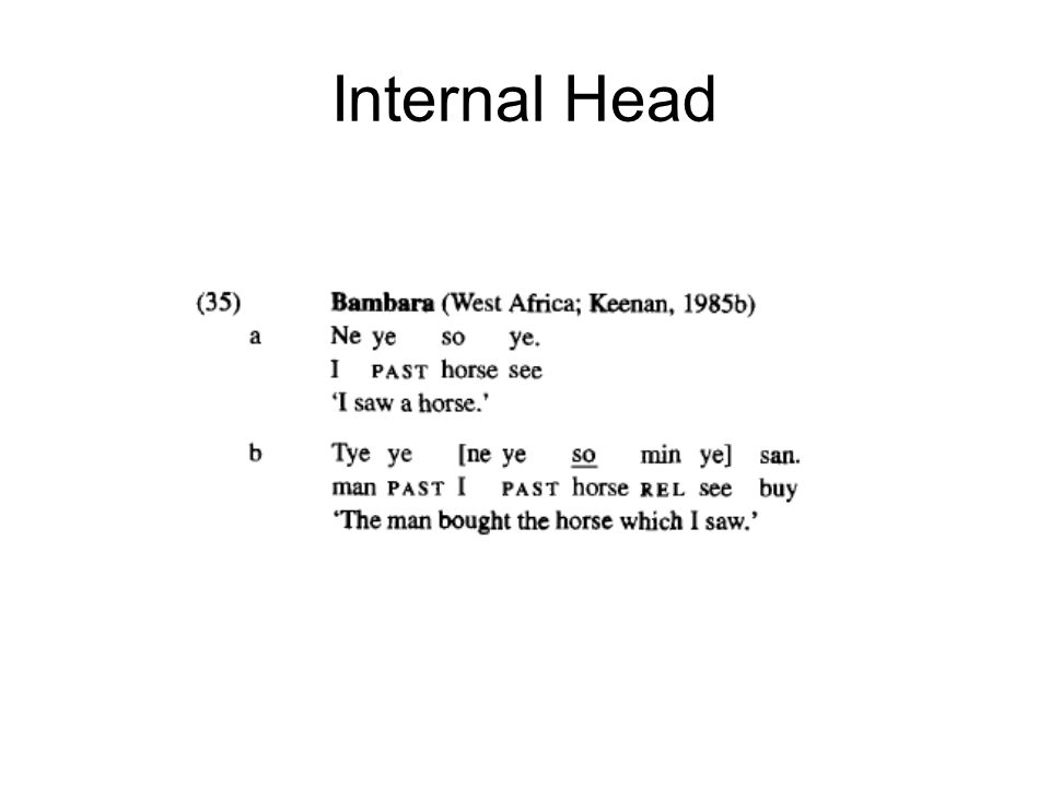 Internal Head