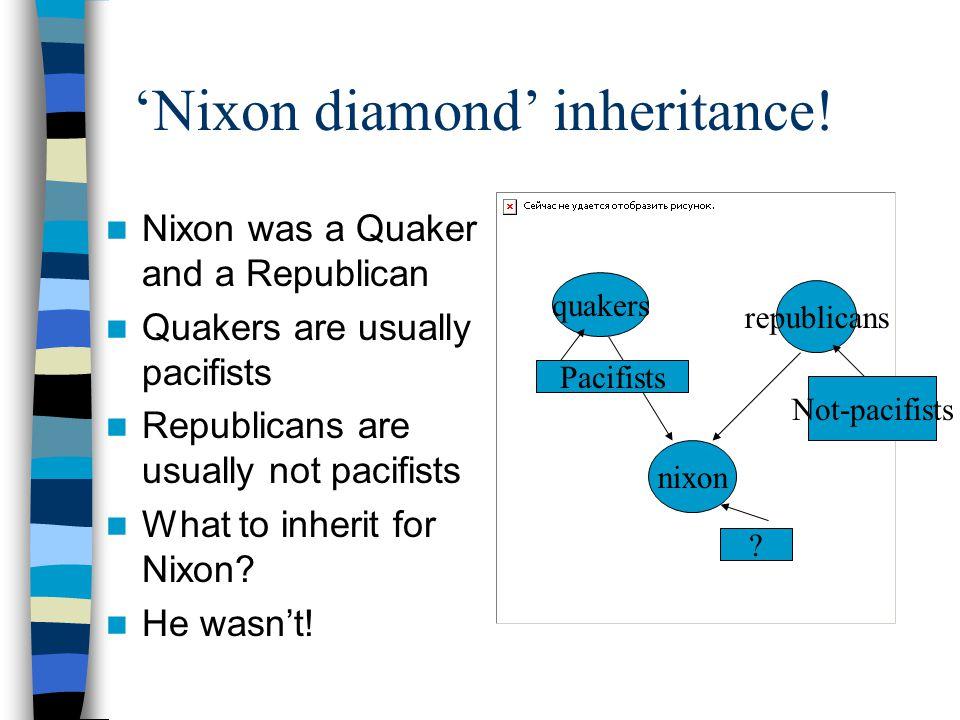 'Nixon diamond' inheritance.