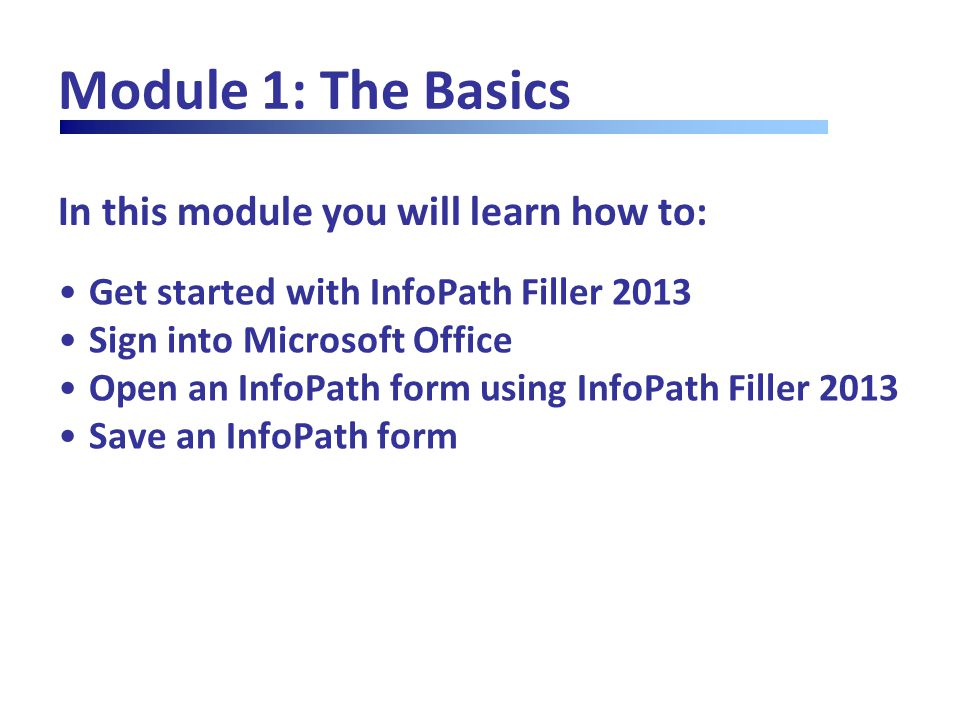 Module 4: Formatting Text, Part One Clearing Formatting (I) Complete form with the following data