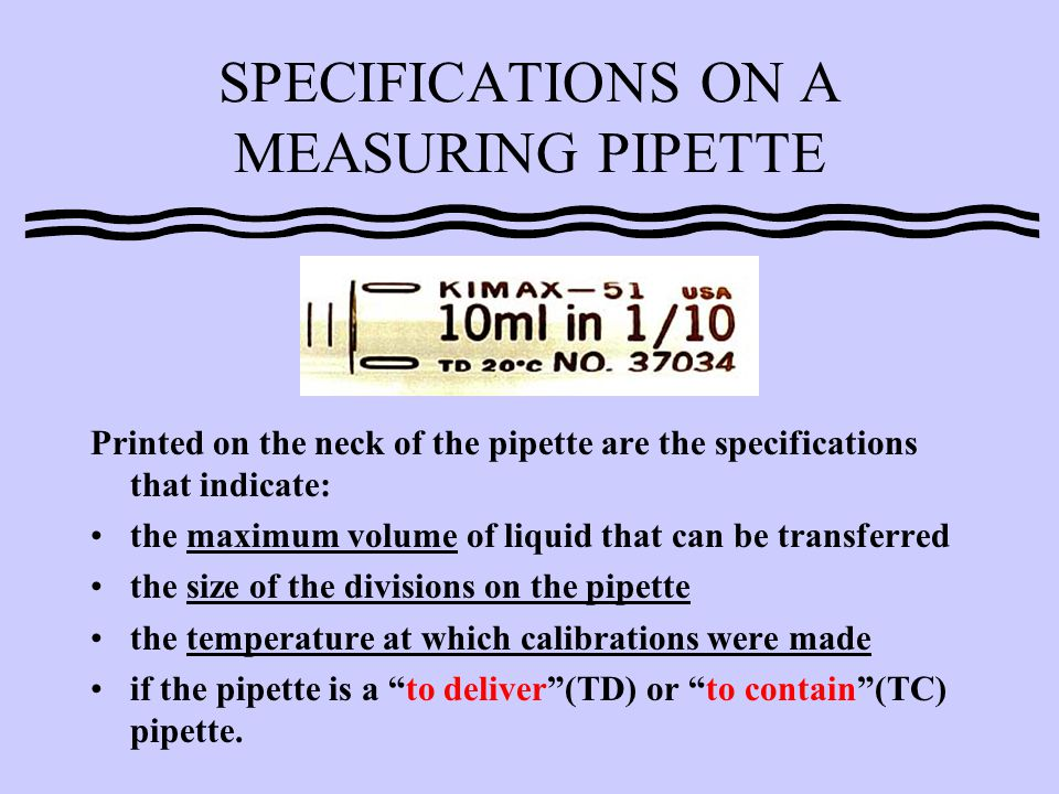 Examine pipettes A and B. Which is the serological and which is the Mohr?