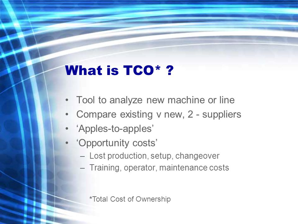 What is TCO* .