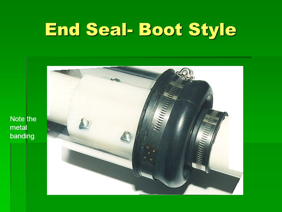 End Seal- Boot Style Note the metal banding