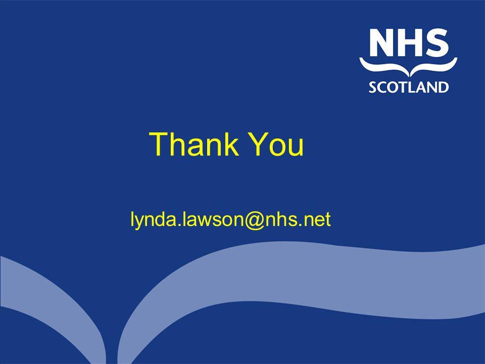 Thank You lynda.lawson@nhs.net