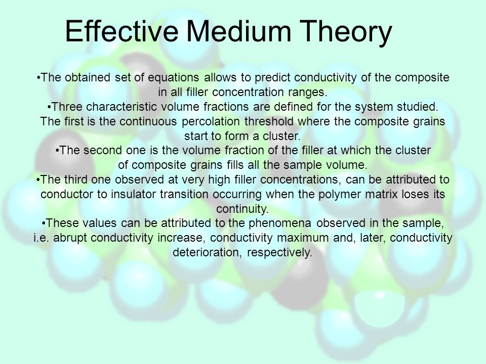 Effective Medium Theory – a.c.approach For a.c.