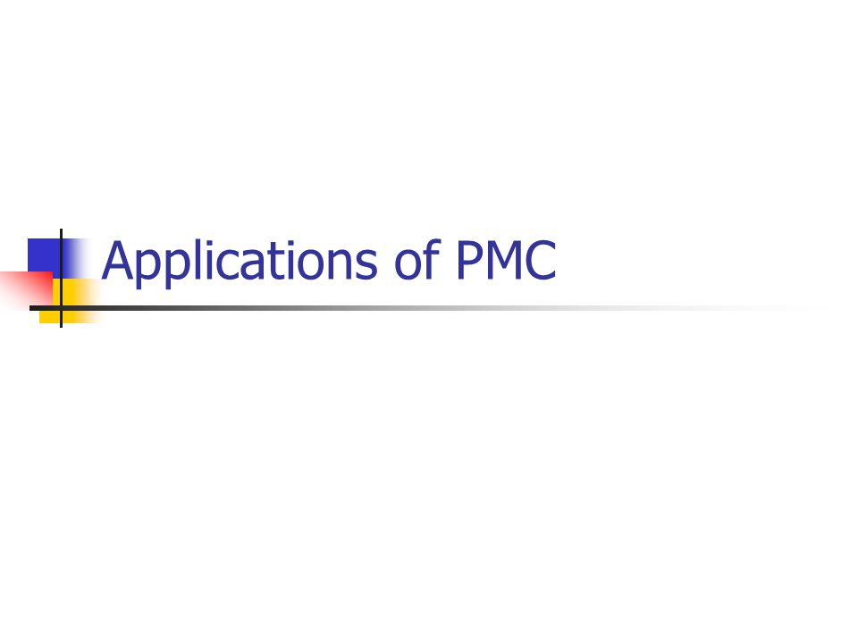 Applications of PMC