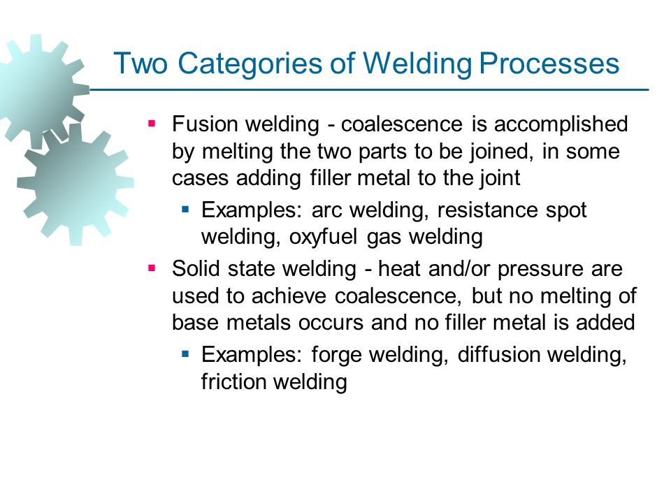 Consumable Electrode AW Processes  Shielded Metal Arc Welding  Gas Metal Arc Welding  Flux ‑ Cored Arc Welding  Electrogas Welding  Submerged Arc Welding