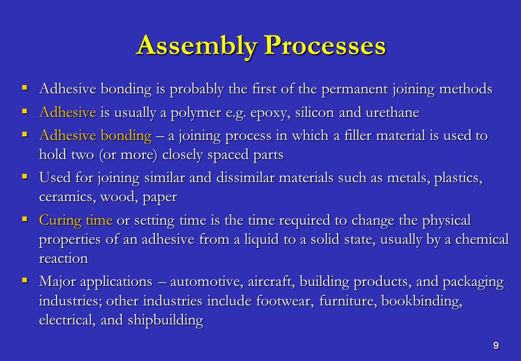 10 Conditioning Processes  Conditioning processes change internal properties of a material – magnetizing a piece of steel  Classification – mechanical, chemical and thermal conditioning  Mechanical conditioning is a process in which we use a mechanical force  Example – hammering a piece of metal makes it harder and its crystal structure changes, getting longer and thinner  Chemical conditioning is a process in which a chemical reaction takes place to change the internal proprieties and structure of a material  Example – mixing plaster and water, heat is given off and the plaster hardens  Thermal conditioning is the other name of heat treatment in which we change the internal characteristics through controlled heating and cooling of metals to alter their physical and mechanical properties without changing the product shape